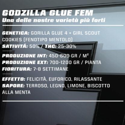 SensorySeeds Beschreibung Feminisierte Godzilla Glue Semen