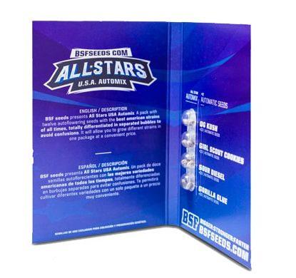 Titelbild von All Star Usa Automix Produktbeschreibung mit automatic Cannabis Samen BSF Informationen