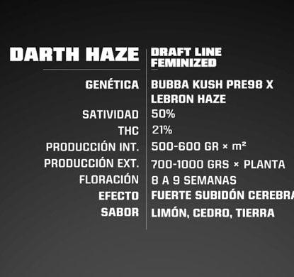 Titelbild von Darth Haze Produktbeschreibung um Cannabis Samen feminisierte BSF bestellen