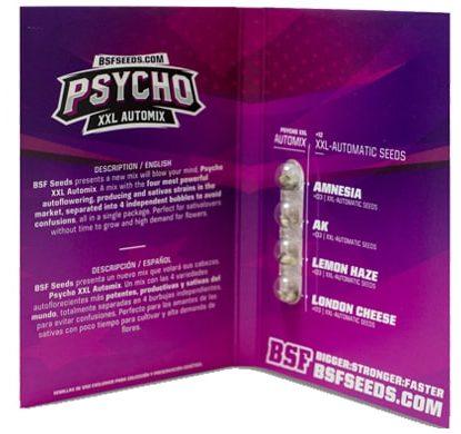 Titelbild von Psycho XXL Automix Produktbeschreibung mit autoflowering Cannabis Samen BSF Informationen