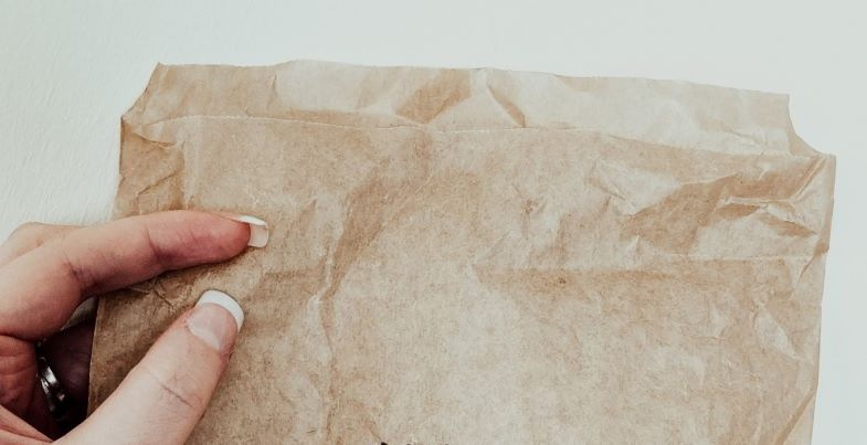 Papiertüte zum Trocknen von Marihuana